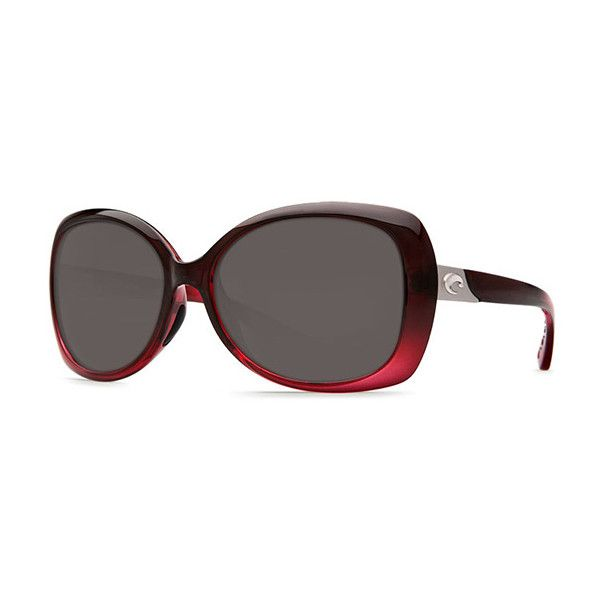 Costa Del Mar Sea Fan Polarized EF 48 OGP Sunglasses (€175) ❤ liked on Polyvore featuring accessories, eyewear, sunglasses, costa eyewear, costa sunglasses, lens glasses, burgundy glasses and costa glasses
