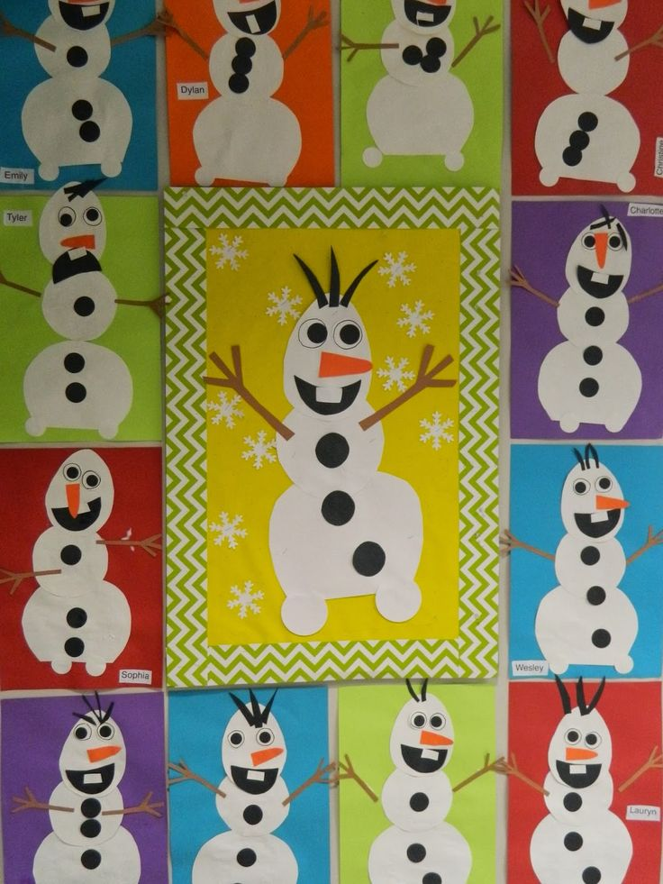 Olaf Snowmen Art Project Bulletin Board From The Movie Frozen