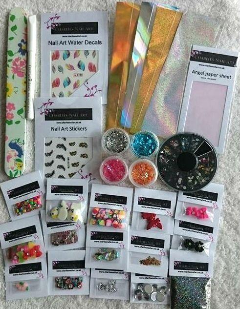 Charlies Nail Art - For the love of nail art kit , £13.99 (http://www.charliesnailart.co.uk/for-the-love-of-nail-art-kit/)