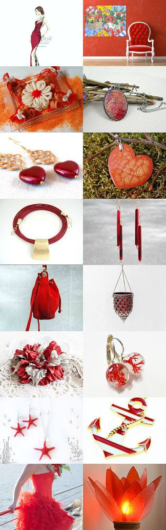 ♥  Red ♥  by Miss Style on Etsy--Pinned+with+TreasuryPin.com