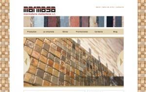Una web cargada de colores y texturas para Marmasa