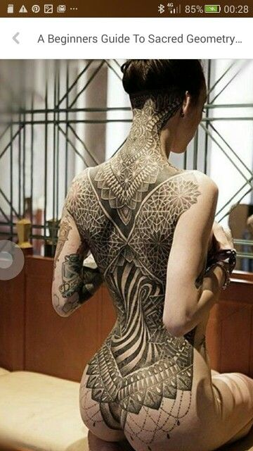 ..have been trying to find an 'Escher' style/geometric optical illusion design that i can use/adjust as a tattoo..isn't this just gorgeous?!?(on her anyway..)..i just love the twisted trunk in the centre! i wonder if i would ever be so brave..?!?..