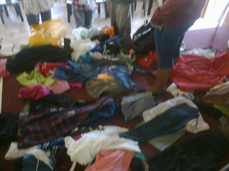 We gathered clothes and food parcels to give to a needy family. Picture: @zanelefetile