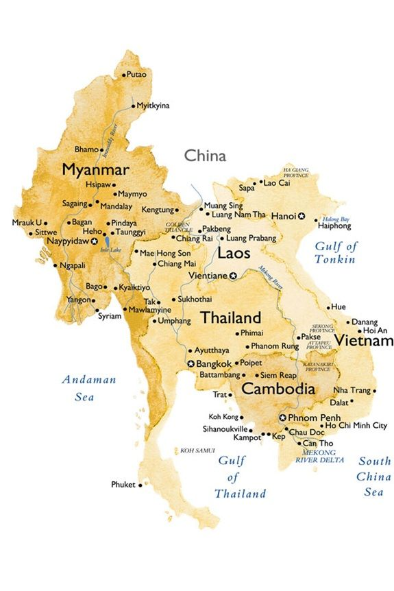 Map of South-East Asia all where I want to travel and backpack through