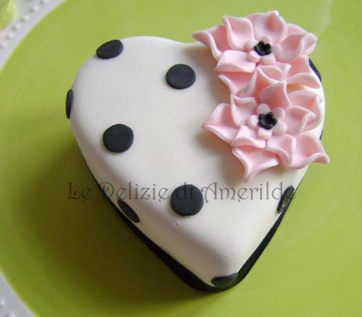Le Delizie di Amerilde. Sweetheart Mini Cake. www.ledeliziediamerilde.it