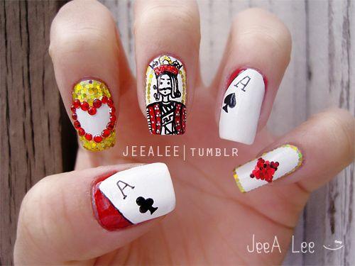 Poker card #nail #nails #nailart