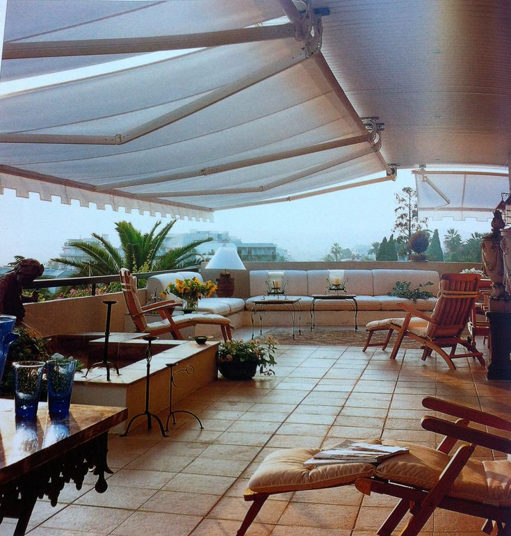 Rooftop Patio With Awning