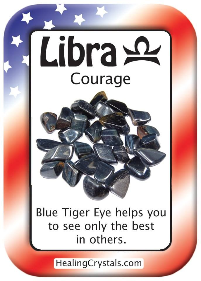 LIBRA COURAGE: Use Blue Tiger Eye to see only the best in others. Code HCPIN10 = 10% off