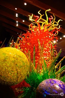 Dale Chihuly's permanent exhibition St Pete, FL. Loved it! And just a few blocks away, a glass shop does a glass blowing show.