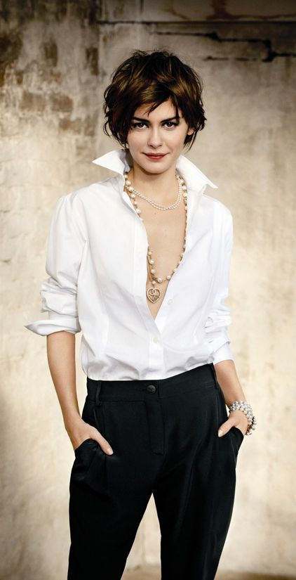 audrey tautou  has such pretty hair...love the style and color!!