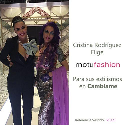 Cristina Rodriguez elige motufashion para crear su look en el programa Cambiame