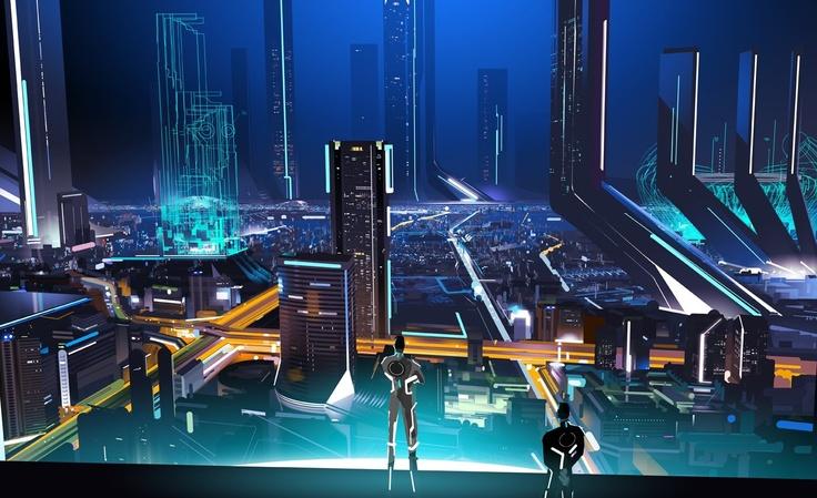 Tron: Computer, Cyberpunk, Tron Uprising Mielgo Jpg, Environment, Digital Ecology, Scifi