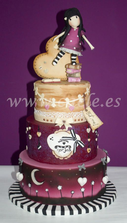 Cake Art By Suzanne : Gorjuss cake - Cake by Caele?s Cakes Mesas De Postres ...