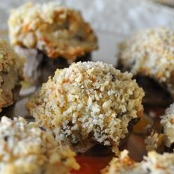 Mouth-Watering Stuffed Mushrooms Allrecipes.com....Vanessa loves these!