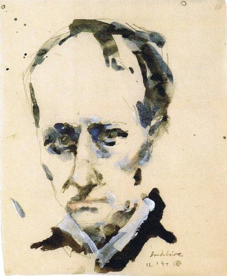 Charles Baudelaire by Horst Janssen