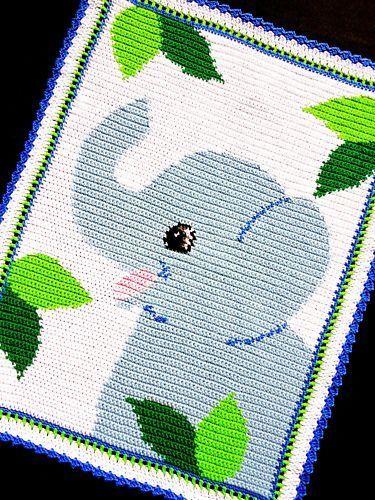 Crochet Patterns - SAFARI ELEPHANT Afghan Pattern EASY! #KarensCradleCreations #Afghan