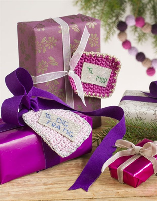 Julehæklerier: Hækl dine til og fra-kort - Hendes Verden