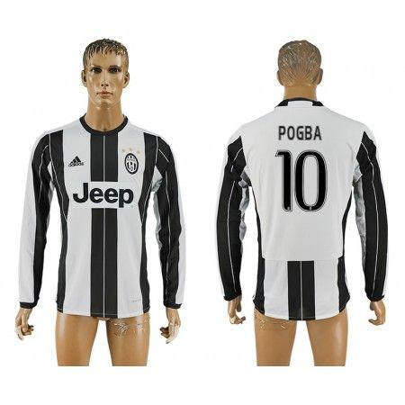 Juventus 16-17 Paul #Pogba 10 Hjemmebanetrøje Lange ærmer,245,14KR,shirtshopservice@gmail.com
