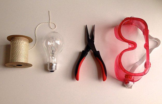 Hanging Lightbulb Planter Supplies