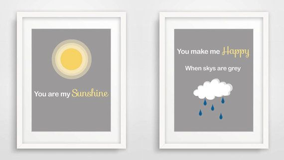 Nursery print: You are my sunshine. Printable by Shhadottedline