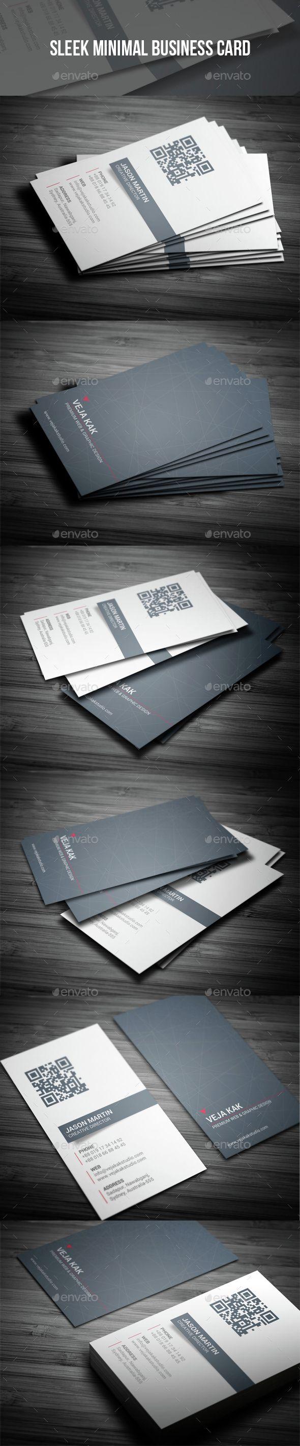 sleek minimal business card