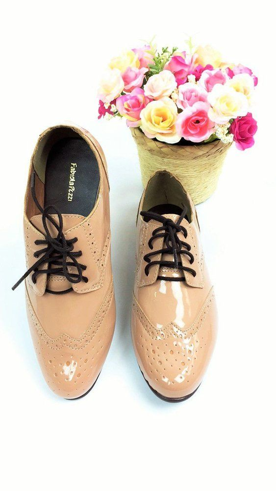 Sapato Oxford Envernizado - Nude http://www.lookstore.com.br/sapato-oxford-envernizado-nude
