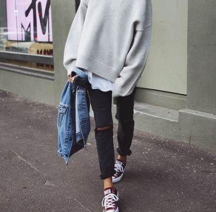 Wie trägt man schwarzen Converse Outfits Sneakers 41 Ideen für 2019
