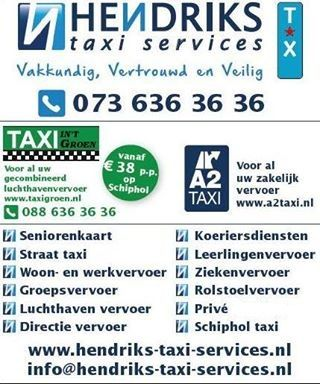 Taxi vervoer. www.hendriks-taxi-services.nl