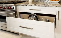 Large Pot Drawer Detail - White & Manor House Kitchen