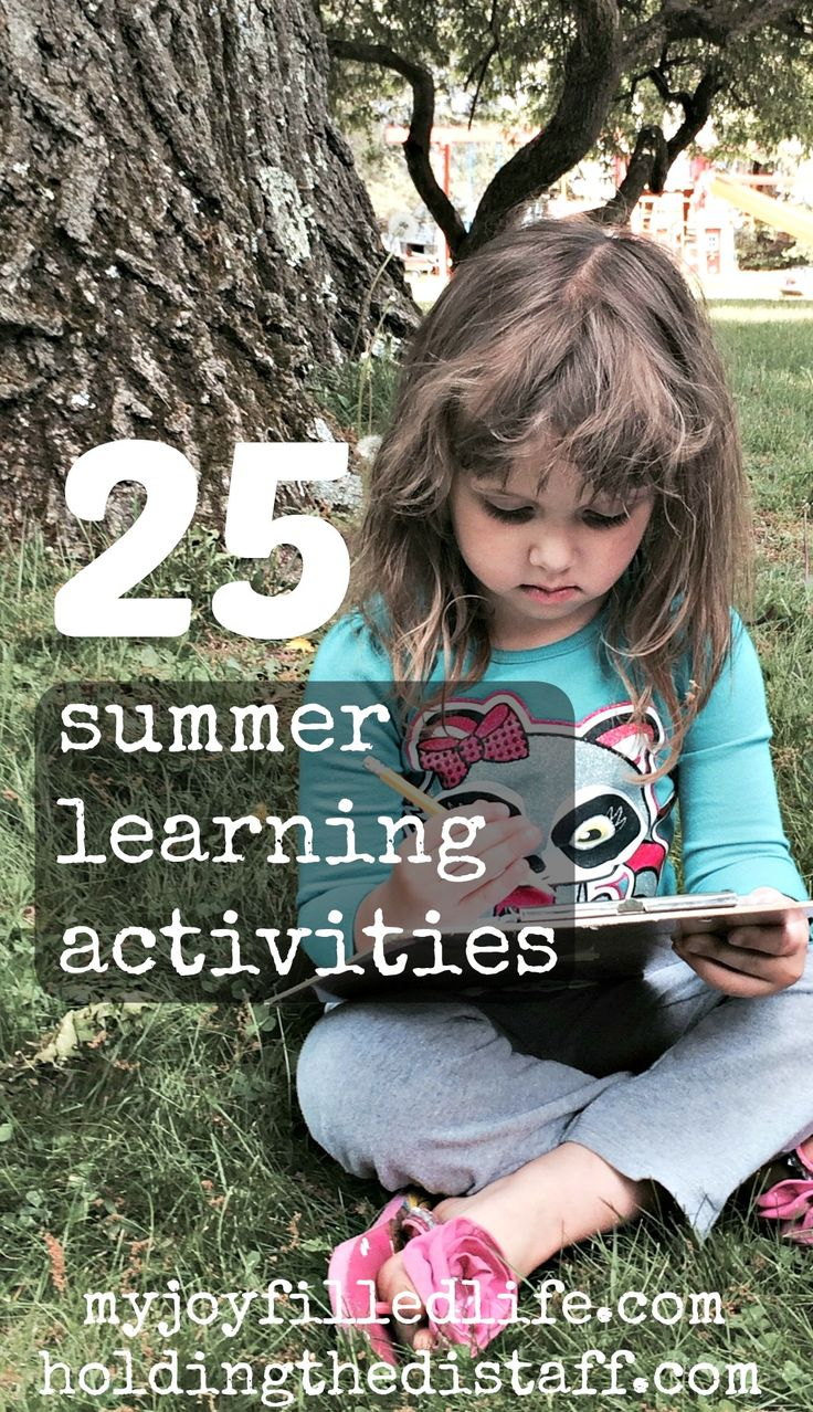 25 summer learning activities