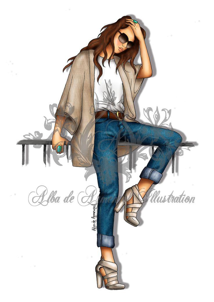 alba de armengol fashion illustration