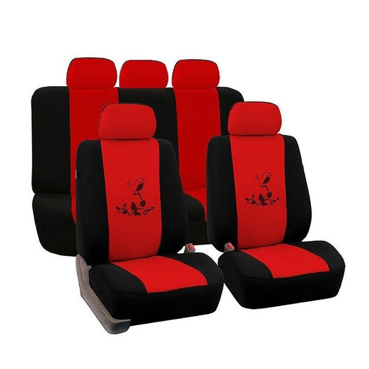 Environment Friendly Washable Durable Cute Bird Pattern Cloth Universal Car Seat Covers