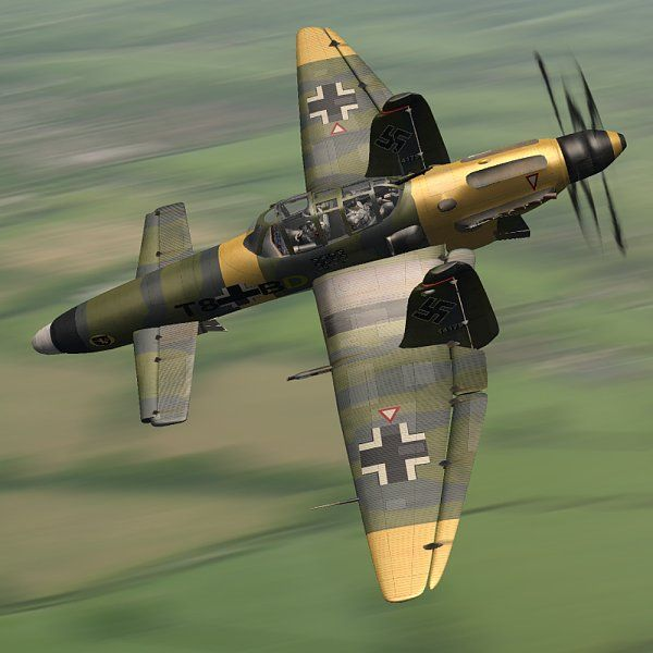 Prototype Do-335 Pfeil, followed by it's full production variants, then a series of improved prototypes based on existing aircraft for ease of production and inter-changeability of parts. To replace the very out-dated and aging Stuka Dive-bomber, the Luftwaffe adopts the Ju-287 Staghund. Based around a similar wing design and purpose but with a much more powerful engine and secondary water-injection booster, the Ju-287 marks a new stage in the airwar over Britain.
