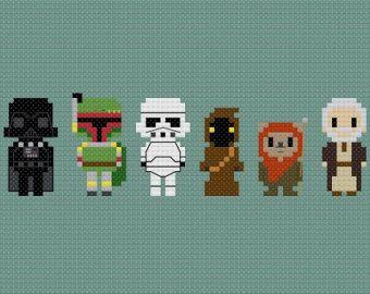 Star Wars Set w/presupuesto cruz puntada por GeekyStitches en Etsy