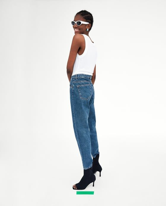 c91b334318 Image 4 of CLASSIC HI-RISE MOM JEANS from Zara