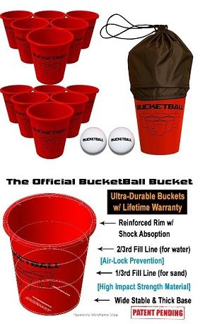 The BucketBall™ Giant Beer Pong™ Edition is great for parties and tailgates! With the solo cup red you can experience BucketBall™ in a whole new light. #bucketball #giantbeerpong #yardgames #outdoorgames #beachgames