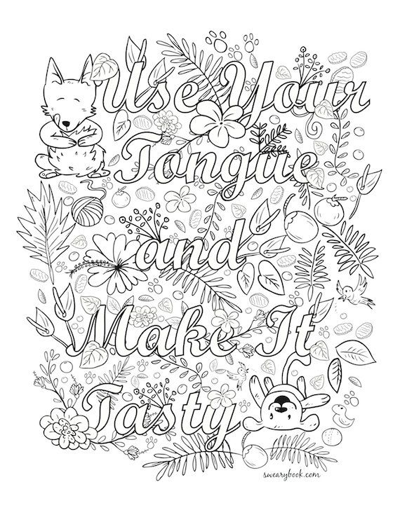 10 best Swear colouring images on Pinterest Coloring books