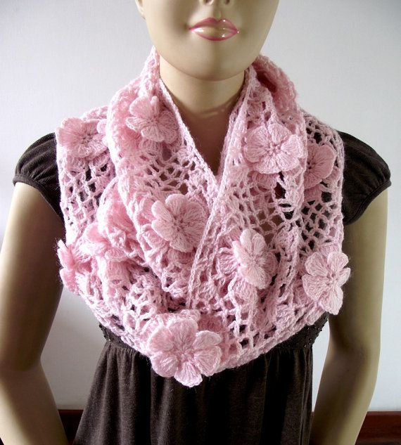CROCHET PATTERN SCARF  Floral Whisper scarf  by LiliaCraftParty