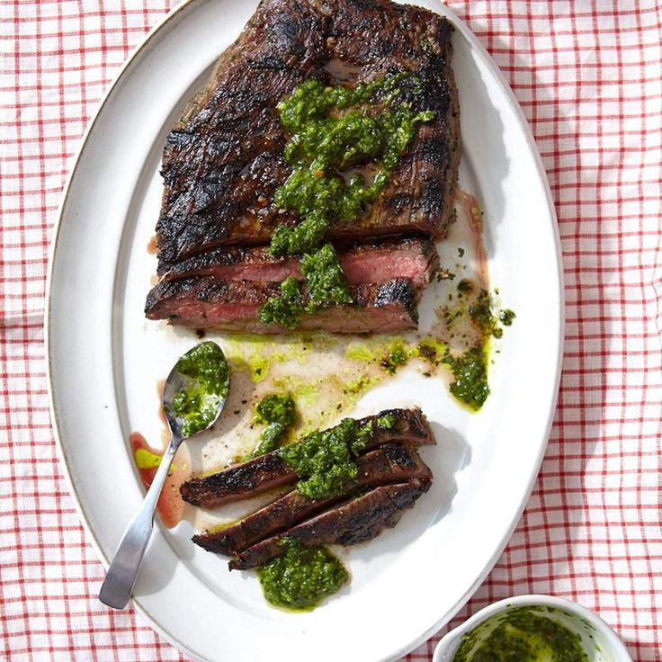 This Argentinian flank steak is absolutely mouth-watering. The chimichurri is made with fresh herbs that pair perfectly with grilled steak. Try it this weekend!