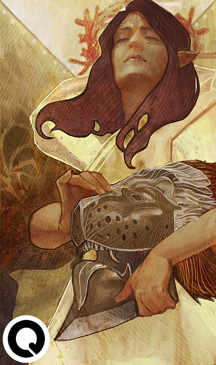 "qissus:   Lavellan tarot commission based on ""The... - Les pinceaux en éventail"