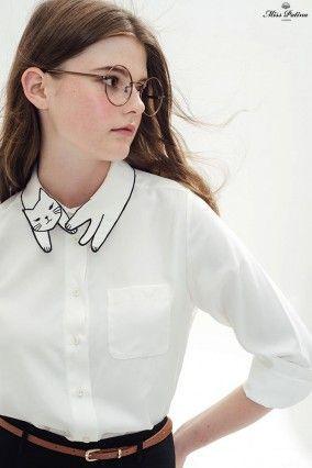 Effet de Col - Col de chemise chat