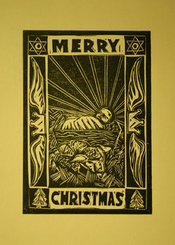 Merry Christmas LinoPrint