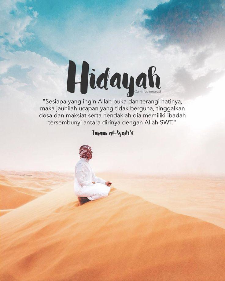 """139 Likes, 1 Comments - ⠀⠀⠀⠀⠀ ⠀ ⠀@AminudinMurad (@aminudinmurad) on Instagram: """"⠀ ⠀ • Hidayah • ⠀ Imam al-Syafi'i pernah berkata: ⠀ """"Sesiapa yang ingin Allah buka dan terangi…"""""""