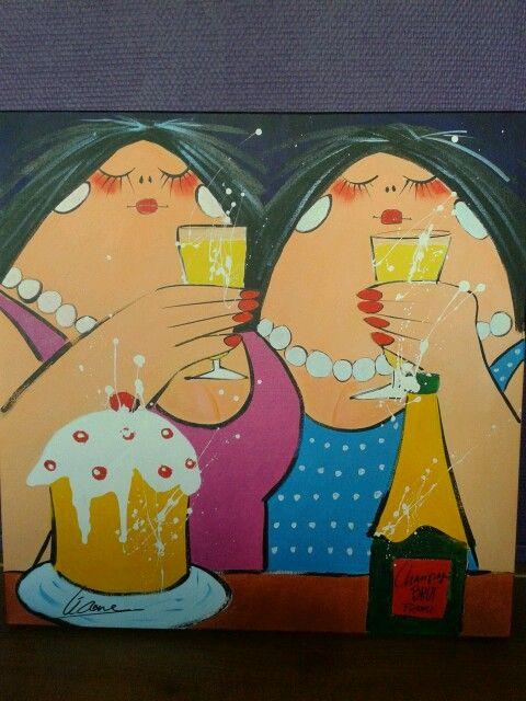 Mijn dikke dames schilderij