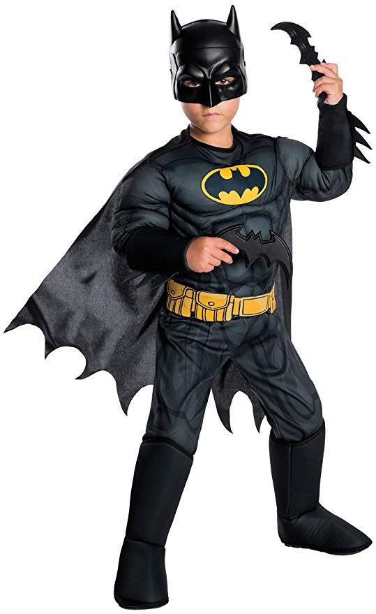Rubie\'s Costume Boys DC Comics Deluxe Batman Costume, Small ...