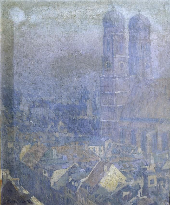 Morgennebel München Datierung: um 1905 Künstler/in: Charles Johann Palmié (1863 Aschersleben – 1911 München)