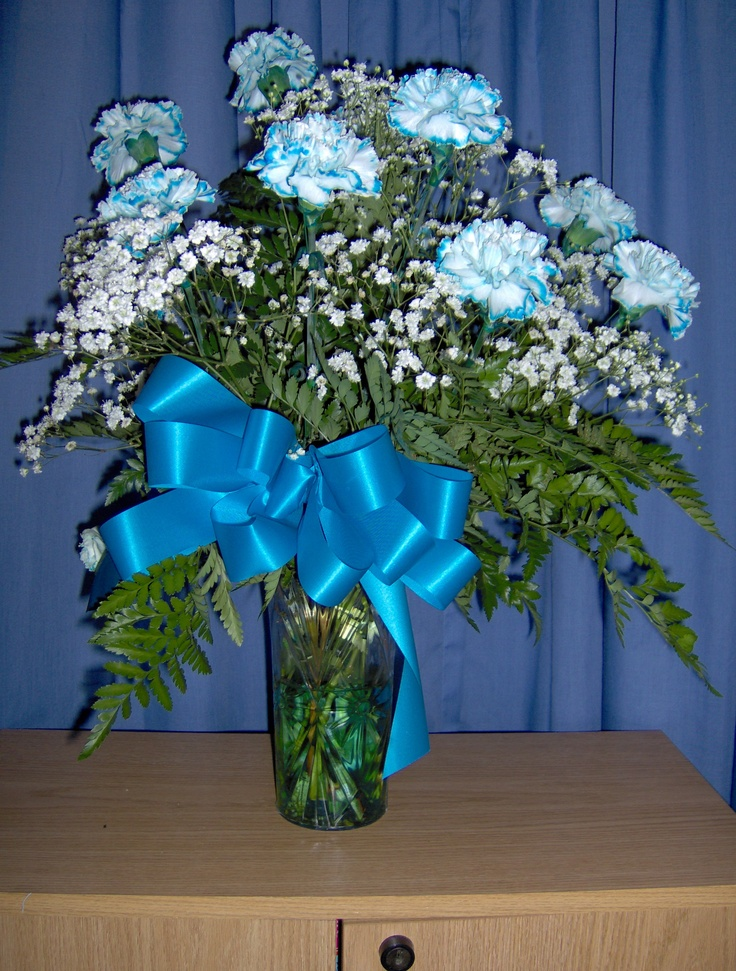 Blue Carnations
