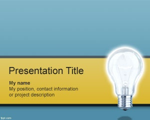 Bulb idea PowerPoint template background for startup idea or business entrepreneurs