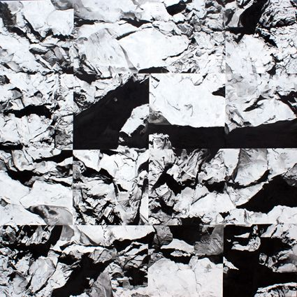 Sérgio Costa: Works - Strata #17, 2012  oil on canvas  200x200 cm