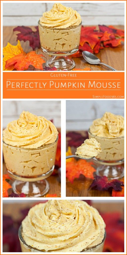 This Pumpkin Mousse makes for a perfect fall dessert! It is light, delicious, and filled with big, bold pumpkin flavor but is so easy to make! | SimpleFood365.com